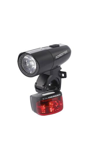 SIGMA SPORT Roadster/Cuberider Zestaw oświetlenia rowerowego czarny